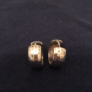 Silpada 925 hoop earrings